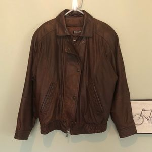 Wilsons Thinsulate Brown Leather Moto Jacket
